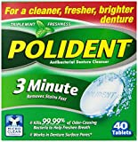 Health & Personal Care : Polident Denture Cleanser, 3 Minute, 40 tablets