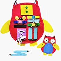 Felly Montessori Bebé Activo Tablero Ocupado, Juguetes Educativo Temprano de Habilidades Básicas para la Vida para…