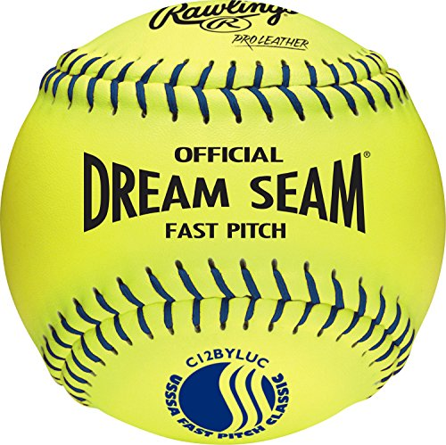 SSA Fastpitch Softball, 12 Count, C12BYLUC (Cork Core Leather Fastpitch Softball)