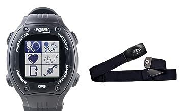Posma W2 Reloj Deportivo para correr con navegación GPS, Antena de 2,4 GHz + Comunicación Envoltorio con monitor del ritmo cardíaco BHR20: Amazon.es: ...