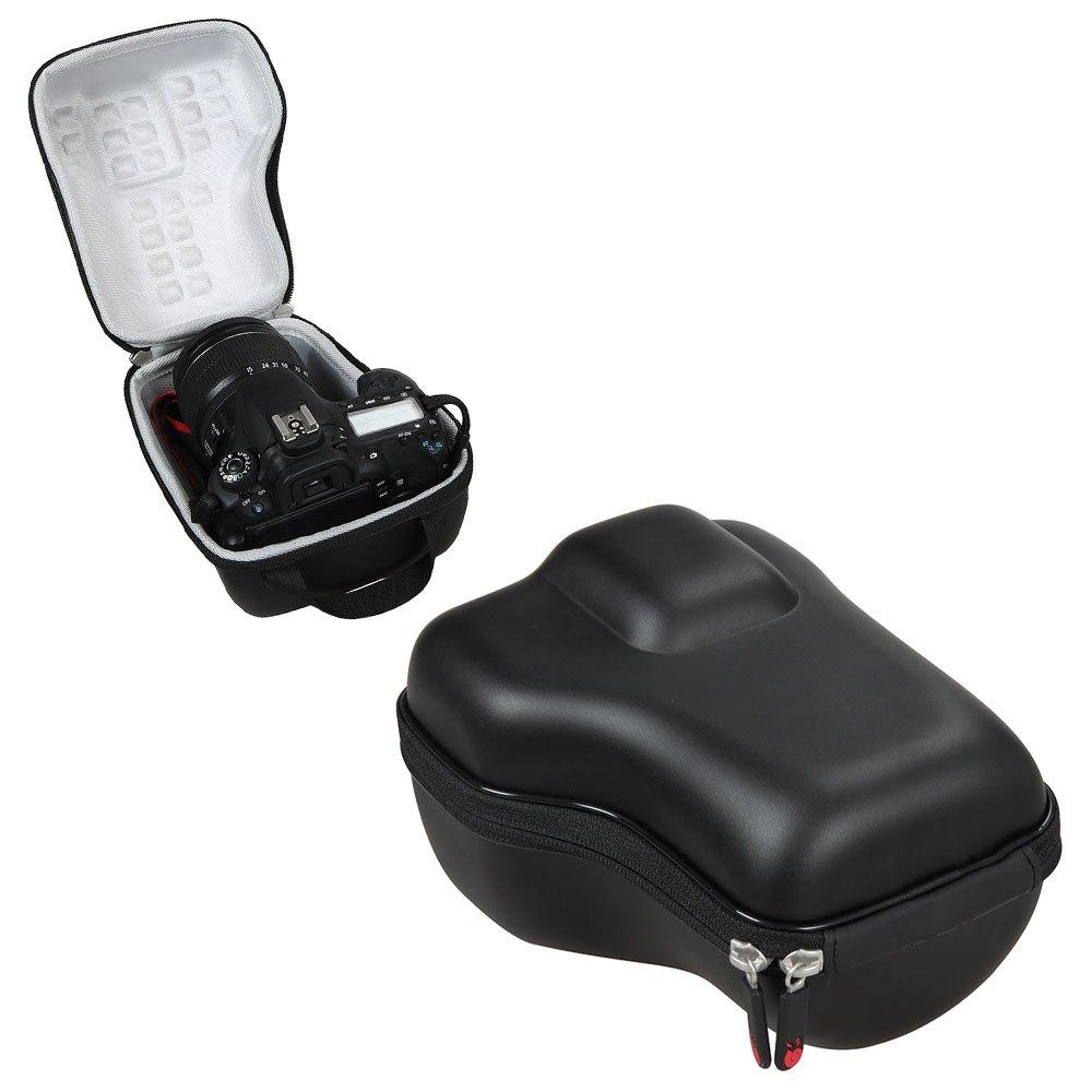 Custodia rigida da viaggio in EVA da Hermitshell per Canon EOS 80D 70D 60D Rebel T5 T6 1300D T6s T6I 760D 750D 1200D T5i 650D 700D T4i T3i 600D T3 1100D Kit obiettivi fotocamera DSLR