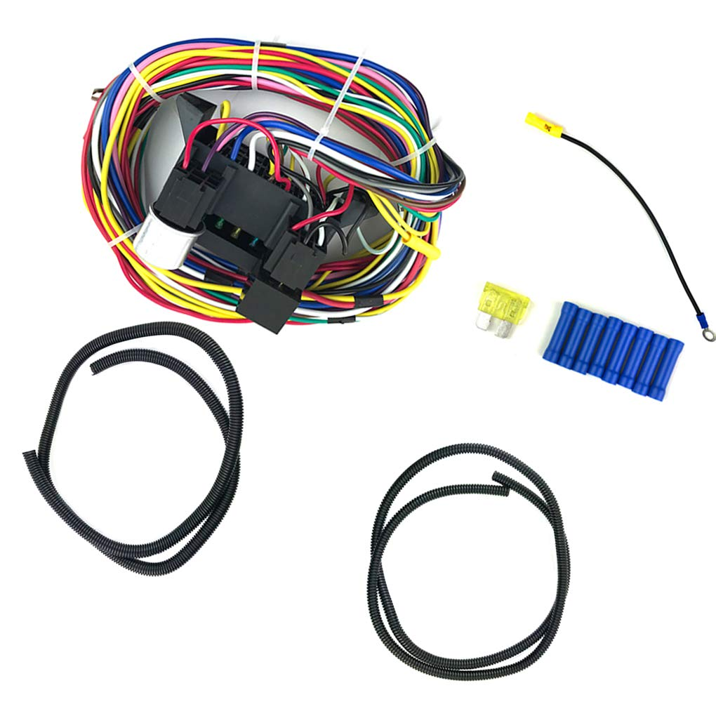 Topker 12 Circuit Universal Wiring Harness Muscle Car Yl388s Relay Diagram Hot Rod Street Xl Wires Kitchen Dining
