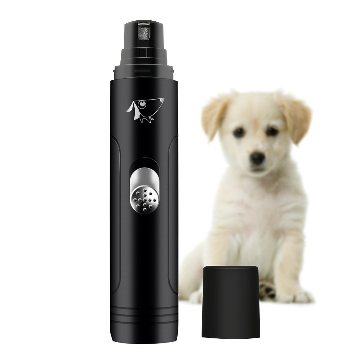 AMIR Full Set Rechargeable Pet Nail Grinder, High-Powered Electric Gentle Paws Nail Grinder Kit, With Clippers and Trimmer, Professional Grooming Kit for Dogs, Cats & All Other Pets by AMIR (Image #7)