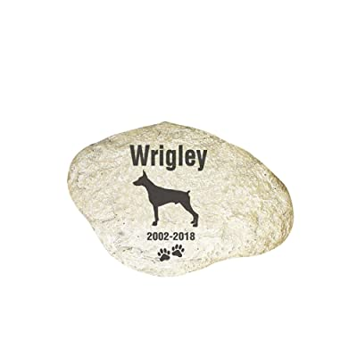 GiftsForYouNow Engraved Dog Memorial Garden Stone, Doberman Pinscher: Pet Supplies