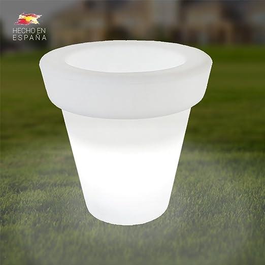 Macetero Grande de 80x75cm con luz LED para Exterior - Interior: Amazon.es: Jardín