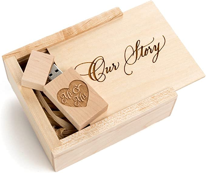 10PCS Maple Wood 2.0//3.0 USB Flash Drive with Wooden Box(Free Laser Engraving Logo) 2.0//4GB