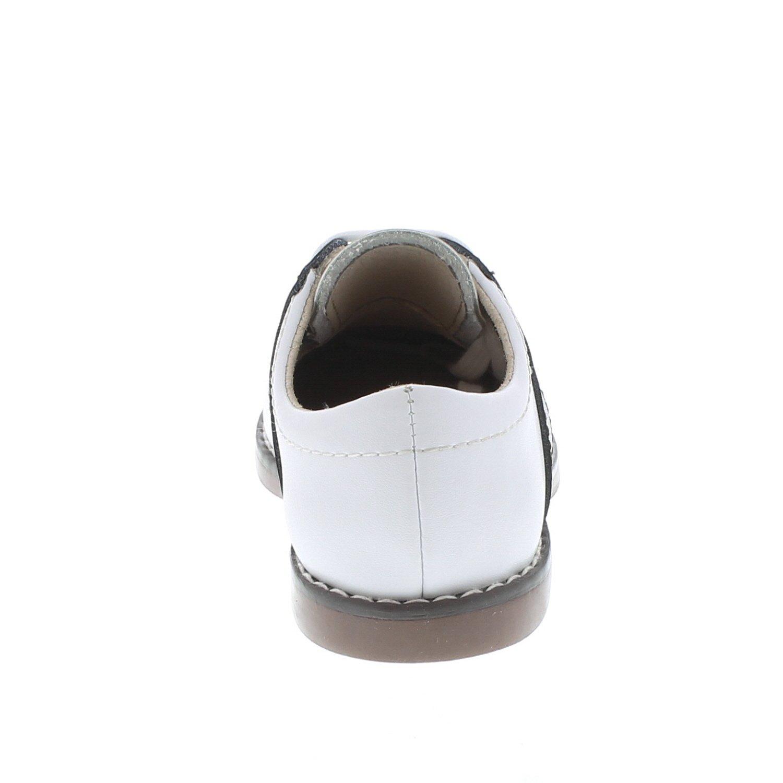 FOOTMATES Cheer Laceup Saddle White//Taffy 8407//6.5 Toddler M//W