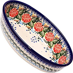Polish Pottery Ceramika Boleslawiec 1210/280 Motif Oval Mirek Baker, Royal Blue Patterns