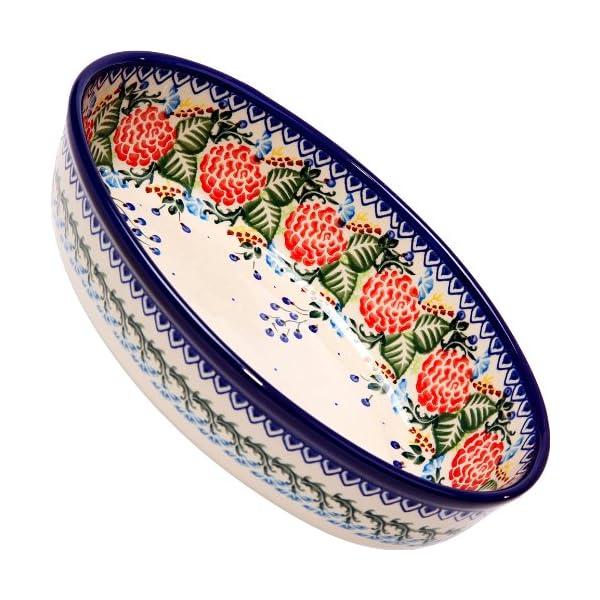 Polish Pottery Ceramika Boleslawiec 1210/280 Motif Oval Mirek Baker, Royal Blue Patterns