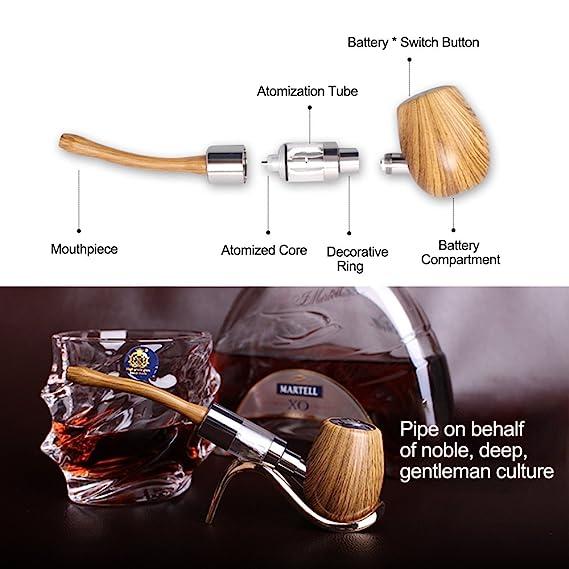 Kamry K1000 Pipa Clásico Estilo Tubo de Cigarrillo Electrónico Starter Kit Completo Con Estuche, 2PCS 900mAh Baterías Grandes Vapor Ecig, 510/EGO Hilo ...
