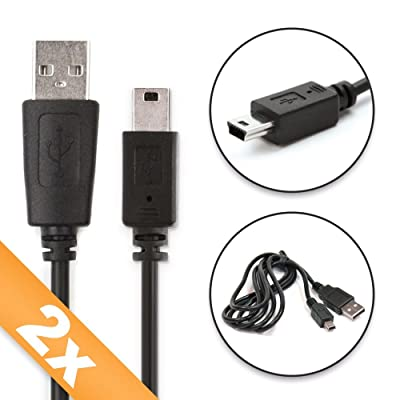 2x CELLONIC® Cable USB dato (1m) para Garmin Edge Touring, Edge 810 800, Edge 500, Drive 51, DriveAssist 50, DriveSmart 61, Nüvi 2699 Nüvi 2597, Oregon 600, Oregon 750, eTrex 30, eTrex Touch 35, Astro 320, Monta