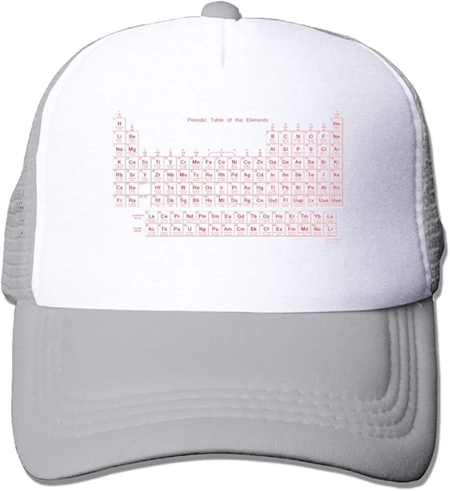 Periodic Table Of Elements Low Profile Baseball Caps For Teen Boys Casual Great For Travle Climbing Snapback Hat