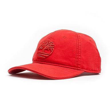 771a308d Timberland Hats Logo Baseball Cap - Red Adjustable: Amazon.co.uk: Clothing