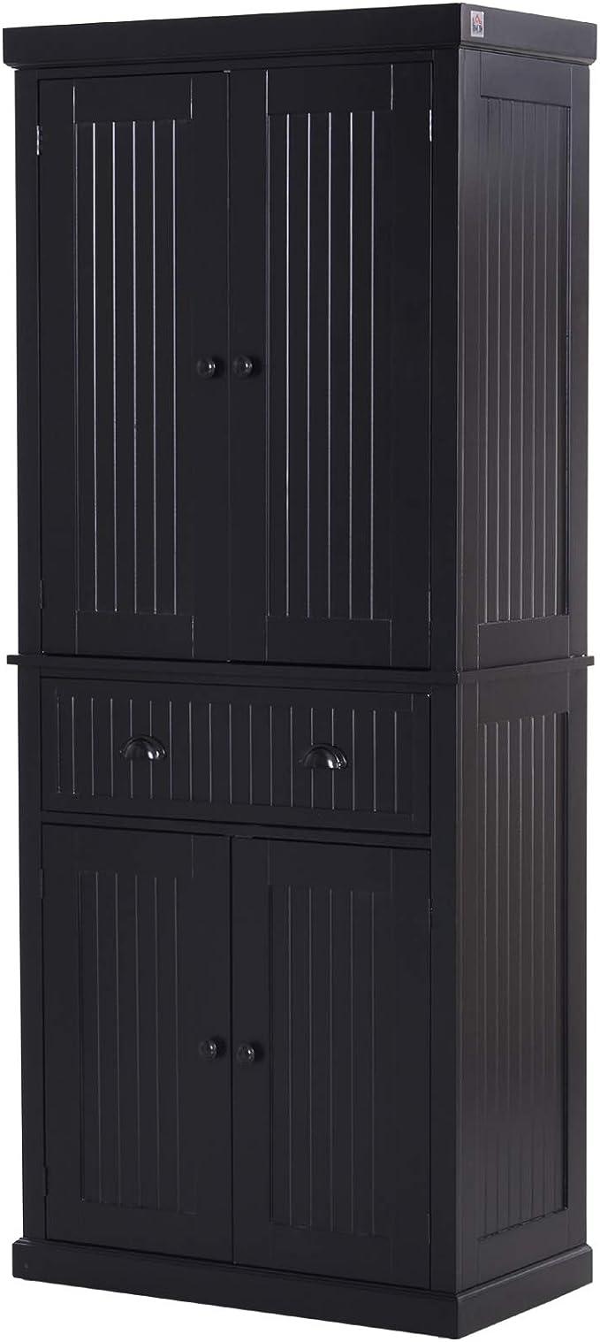 Homcom 72inch Wood Kitchen Pantry Cabinet Tall Storage Cupboard