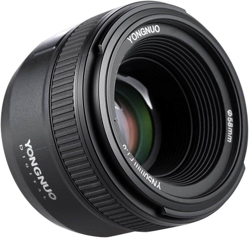 YONGNUO YN50mm F1.8N Manual Focus Lens Standard Prime Lens Large Aperture FX DX Compatible with Nikon DSLR Cameras