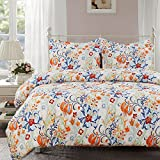 Amazon Price History for:Vaulia Lightweight Polyester Microfiber Duvet Cover Set, Floral Pattern Design - Queen Size
