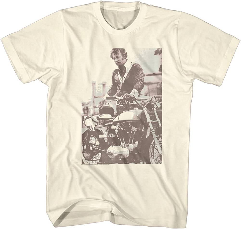 Evel Knievel Sepia Licensed Adult T Shirt