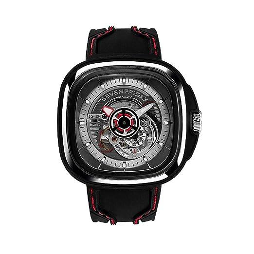 Seven Friday S-Series Reloj de hombre automático 51mm correa de silicona S1-03: Amazon.es: Relojes