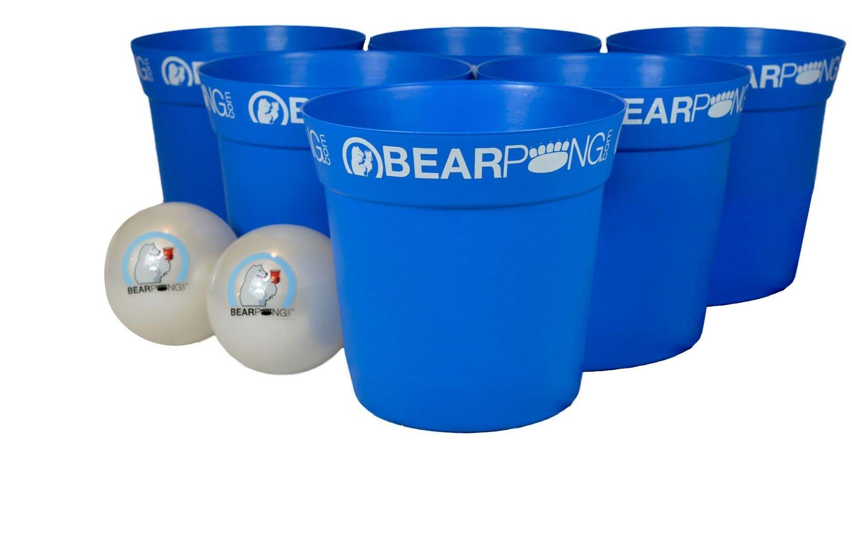 Bearpong Bearpong Game Set: 12 BEARPONG Buckets, 2 BEARPONG Balls with Carrying Case, and Instruction (Blue)