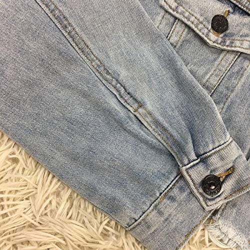 Casual Azzurro Onlyoustyle Primavera Jacket E Cime Giubbotto Lunga Giacche Di Corto Coat Manica Denim Giacca Jeans Donna Cappotto Outerwear Moda Tops Autunno wIxS1qrIB