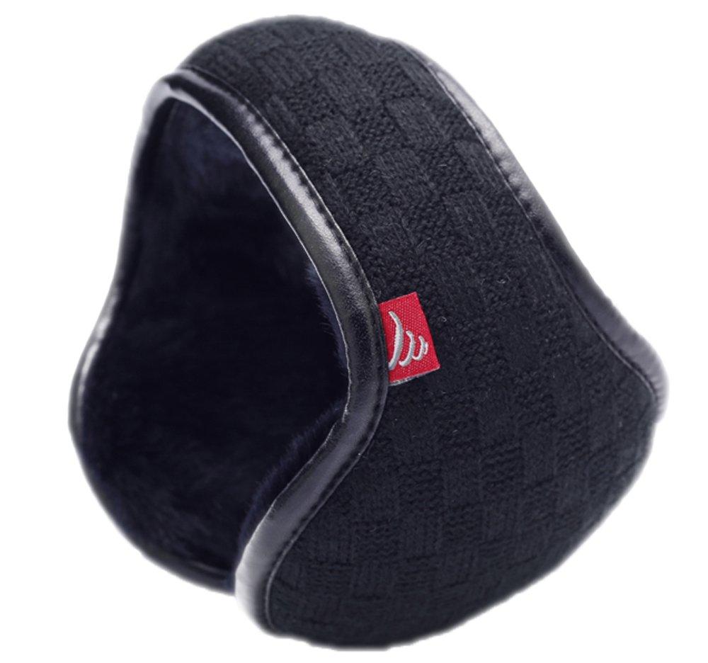 Warm-U, paraorecchi elegante e comodo, che si indossa dietro la testa, tascabile, in filo di lana, m...