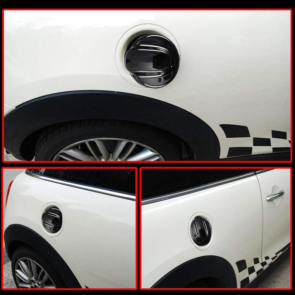 JenNiFer Coperchio Tappo Benzina Nero Lucido per BMW Mini Gen 2 R56 Cooper S Jcw 2006-2013 Nero Lucido