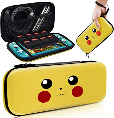 Haobuy Case for Switch Lite, Carrying Case for Pokemon Switch Lite Case [Design for Lets Go Pikachu/Eevee Pouch], Portable Slim Travel Carry Case for Switch Lite Games & Accessories: Amazon.es: Electrónica