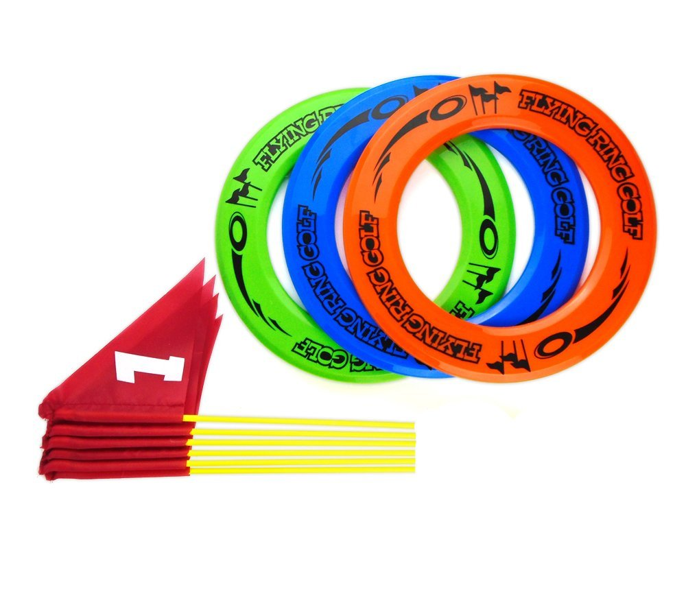 Nuanmu Frisbee Rings Disc Golf Flying Ring Outdoors Game, Get Outside & Play