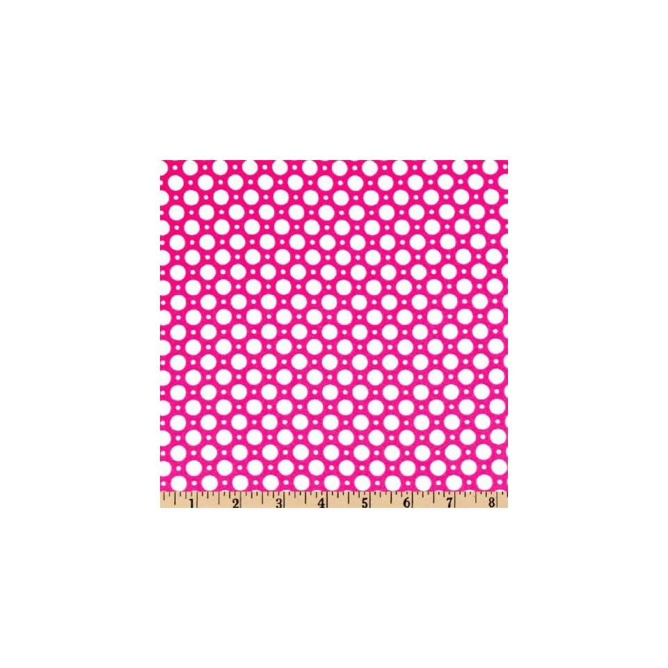 45 Wide Luna Polka Dot Hot Pink Fabric By The Yard