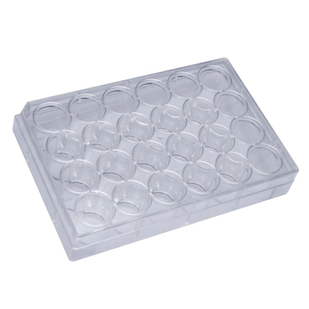 24-Well Non-Treated Cell/Tissue Culture Plates, Individually Wrapped, Sterile, 100 Count