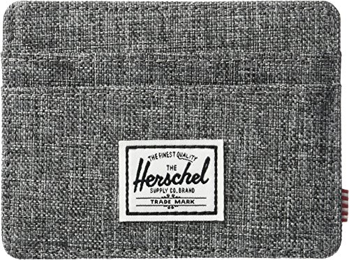 Herschel Supply Co. Men's Charlie Rfid, Rfid Raven Crosshatch, One (Mens Card Holder)