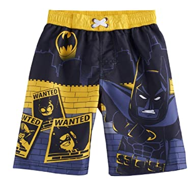 b99be007b7 Amazon.com: DC Comics Boy's Batman UPF 50 Swim Trunks: Clothing