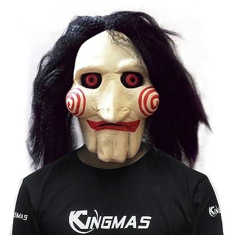 kingmas Sierra Película marioneta de Jigsaw Máscara De Halloween máscara de Full Head Látex espeluznante Scary
