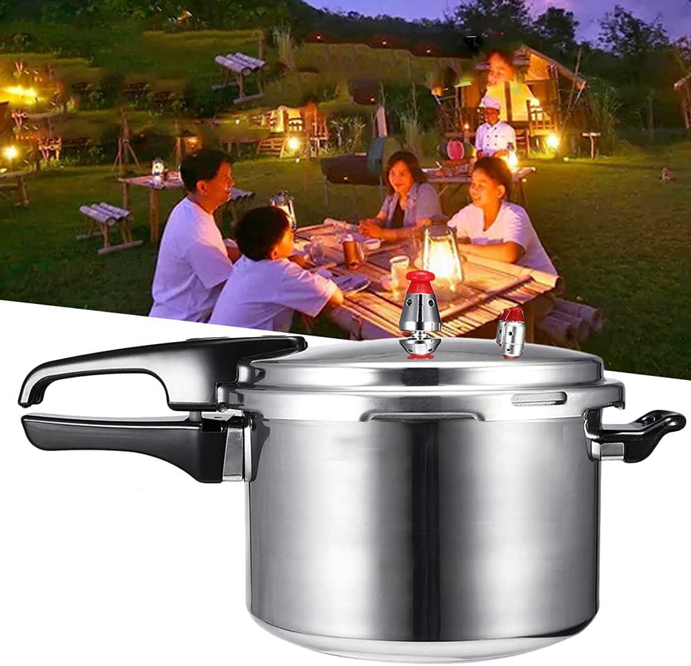 XIAOYAOJING 3/4/5 L Pressure Cooker, 304 Stainless Steel Pressure Cooker Pot for Cooking, Suitable for Induction, Gas Stove etc(22cm)