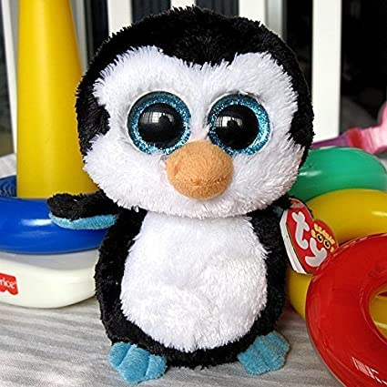 0700f453ec2 Image Unavailable. Image not available for. Color  Big eyes plush TY Beanie  Boos - Waddles - Penguin ...