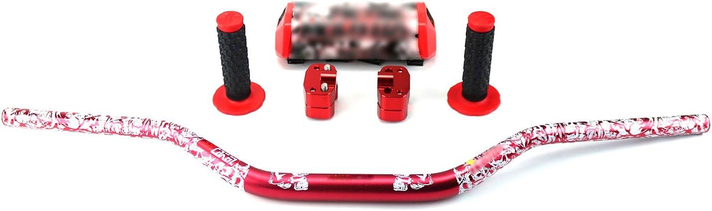 Riser Bar Poign/ées STONEMEN Moto 28mm Fat Bars 1 1//8 Guidon surdimensionn/é Noir Pad Pad pour Dirt Bike