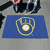 FANMATS 16842 FanMats MLB - Milwaukee Brewers Ball in Glove Ulti-Mat 60x96
