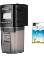 Petacc Alimentatore Automatico di Pesce Dosatore Mangime Automatico per Pesci con Display LCD e Impostazione del Tempo di Alimentazione, Adatto per Acquario, Serbatoio per Pesci e Tartarughe