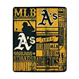 MLB Oakland Athletics Strength Printed Fleece Throw, 50-inch by 60-inch