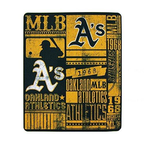 The Northwest Company Oakland Athletics (A's) MLB Baseball 50x60 inch Fleece Throw - Blanket Soft Athletics Oakland