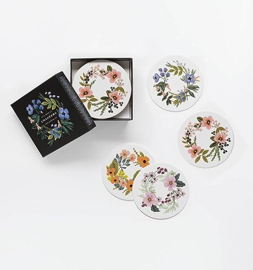Floral & garden coaster set