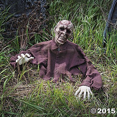 Brain Zombie Ground Breaker Halloween Decoration Prop