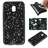 Samsung Galaxy J3 2017 Case, Samsung Galaxy J3 2017 Glitter Case,Cozy Hut 3D Luxury silver Star Design High Quality Plastic Shell Shockproof Soft Case Cover Flexible Cell Phone Hull for Samsung Galaxy J3 2017 / J330F - Silver sky