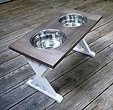 X-Large Trestle Style Farmhouse Dog Bowl Stand