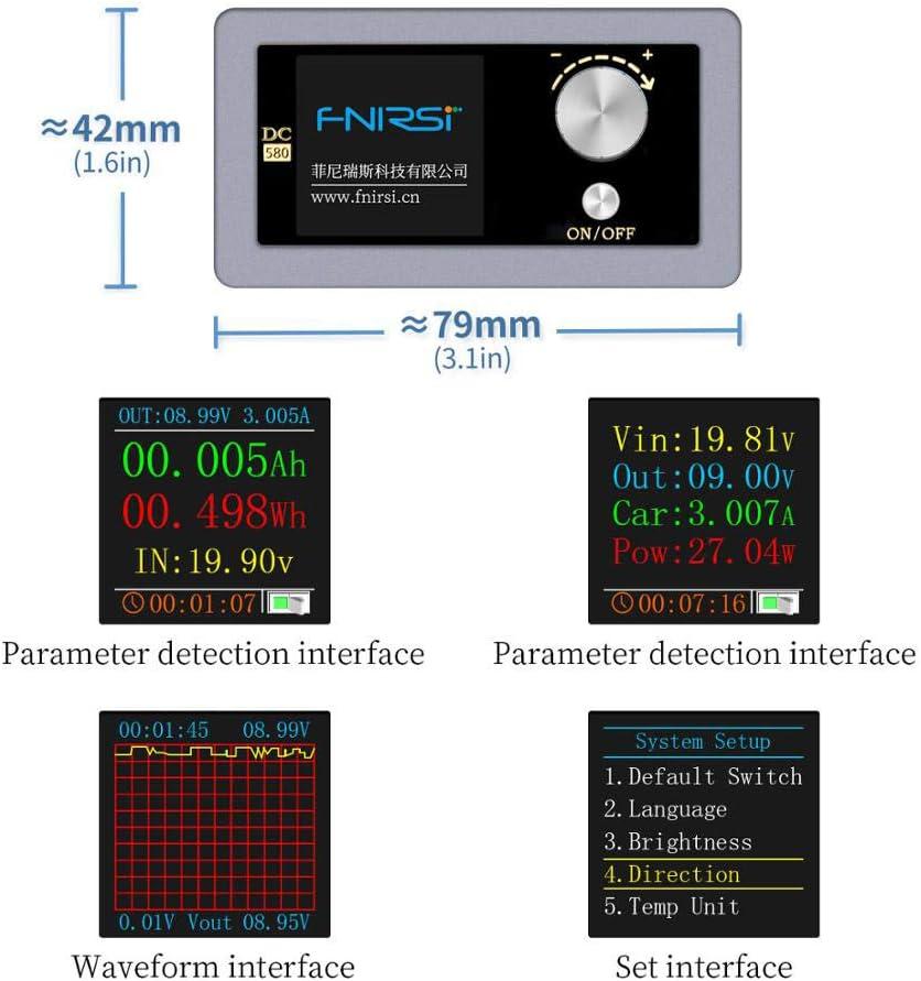 Module dalimentation KKmoon/® DC DC Buck Boost Converter CC CV 0.6-30V 5A Module dalimentation R/églable R/égul/é Laboratoire Alimentation Variable Voltm/ètre Amp/èrem/ètre CNC /Écran Couleur 80W