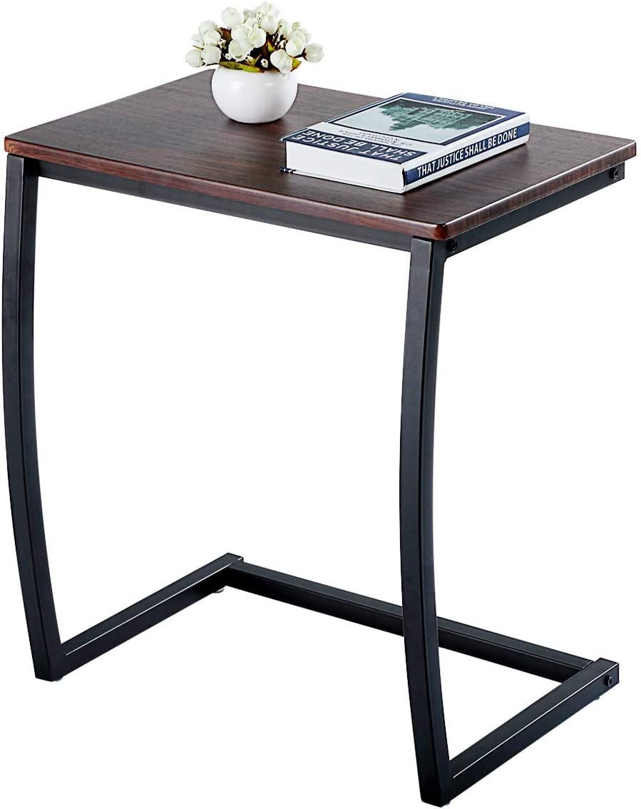 JAXSUNNY Sofa End Table Accent Couch Table Creative Bedside Side C Shaped Table