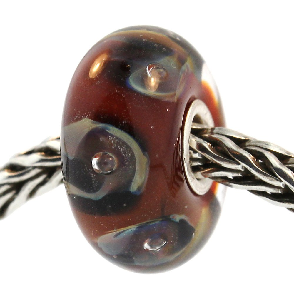 Authentic Trollbeads Glass 61389 Chocolate Parrot