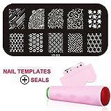 Gellen Nail Templates Image Plate Of Kit Stamper + Scraper Stamping Tools Nail Art Manicure #9