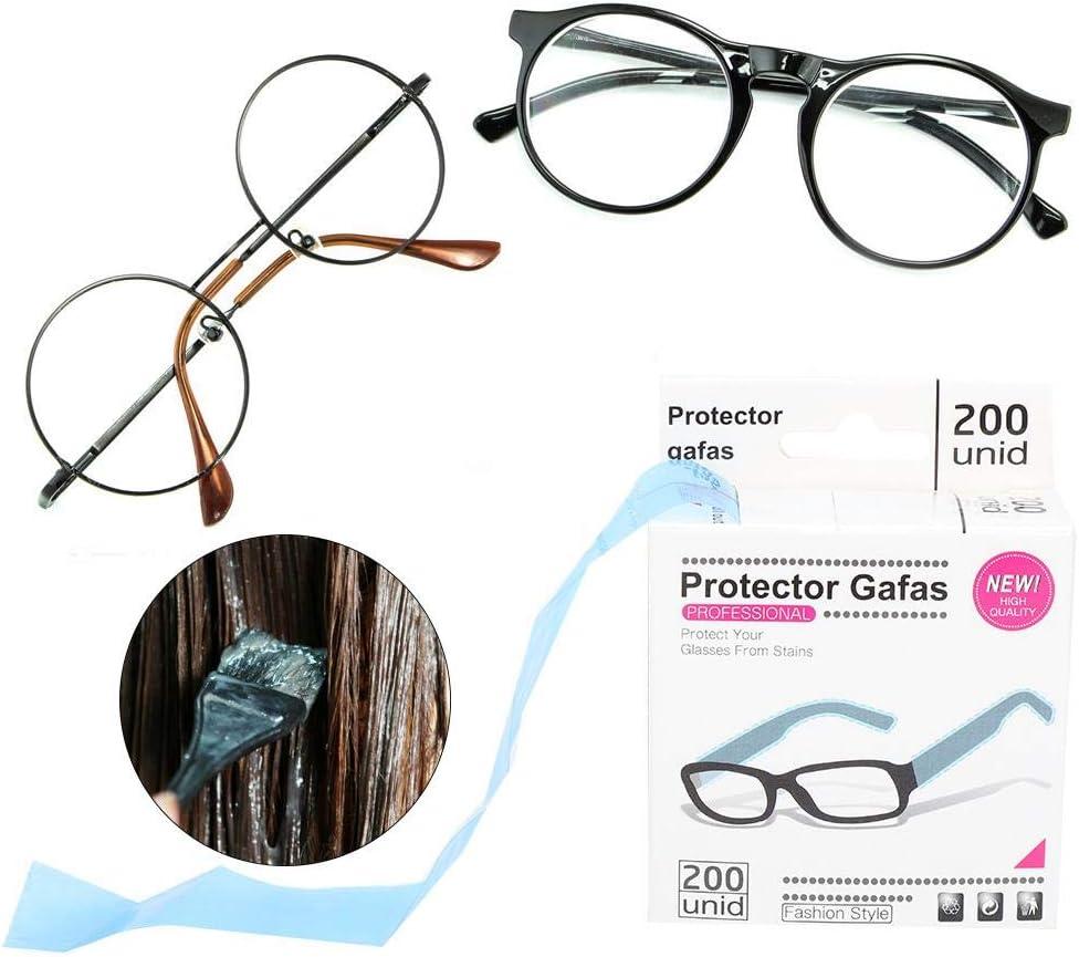 200 pi/èces//1 rouleau lunettes jetables manches couverture teintures pour cheveux lunettes protection des cheveux teintures pour cheveux shampooing protection des pieds lunettes accessoire 200pcs//box