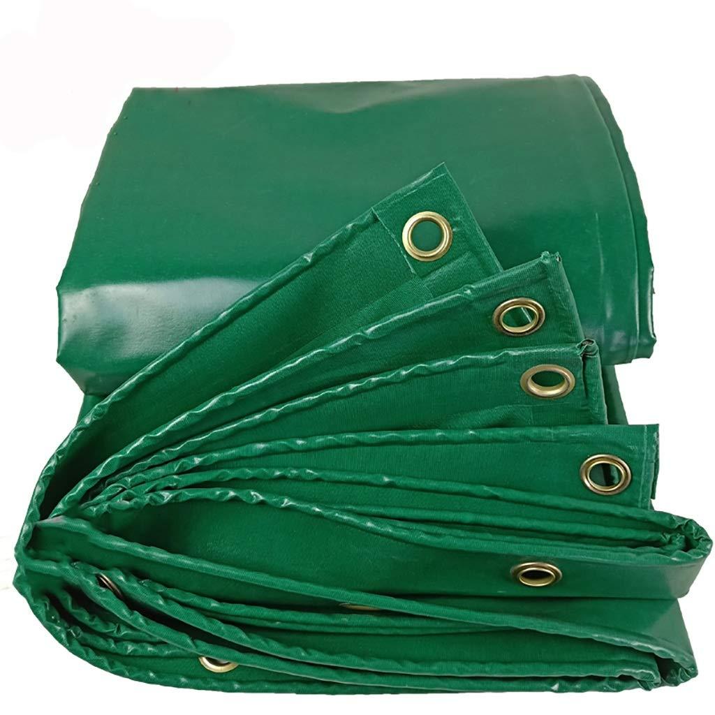 Hfspb Hochleistungs-PVC-Persenning mit Perforation, wasserfester Sonnenschutzplanen-Isolierung und regenfestem Markisentuch - 450g   M2, grün
